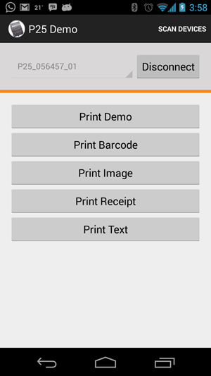 Blue Bamboo P25 Printer Android Demo Application With Source