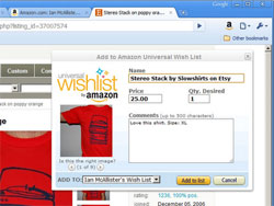 Add to Amazon Wishlist  Extension